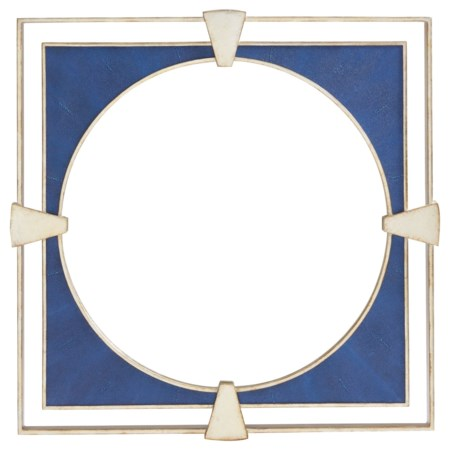 Adour Square Wall Mirror with Faux Shagreen