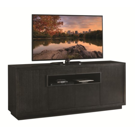 Berlinetta Media Console with Wire Management Grommets and Adjustable Shelves