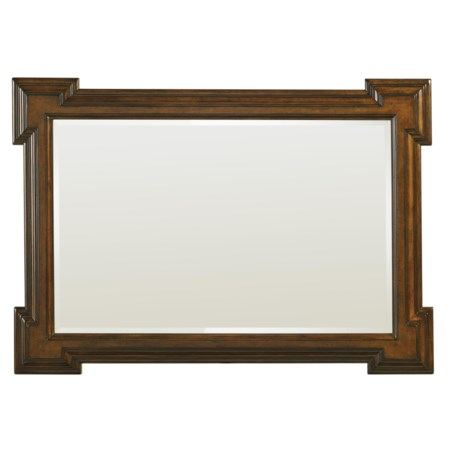 Addison Square-Carved Landscape Mirror