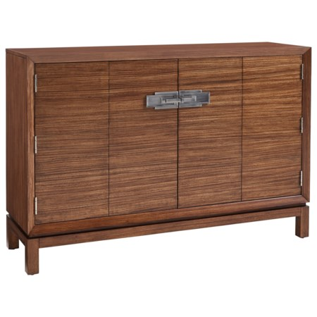 Aran Hall Chest with Two Drawers and Eight Adjustable Shelves