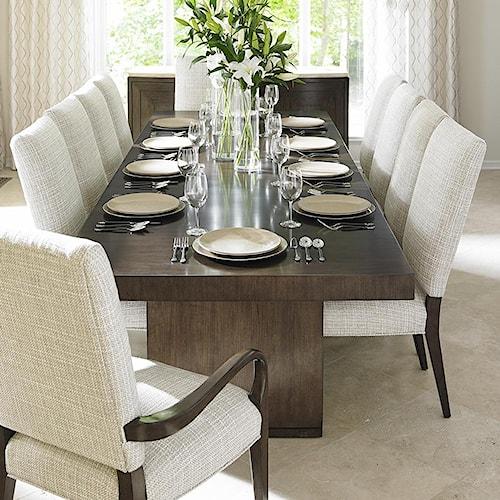 Lexington laurel canyon eleven piece dining set with san for Dining sets nashville tn