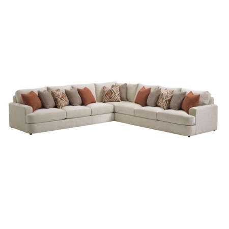Halandale Two Piece Sectional Sofa with Toss Pillows