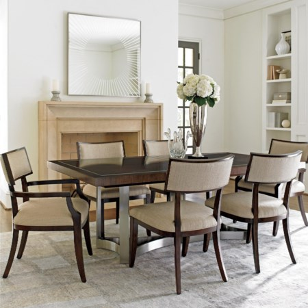 Seven Piece Dining Set with Beverly Place Table and Whittier Chairs