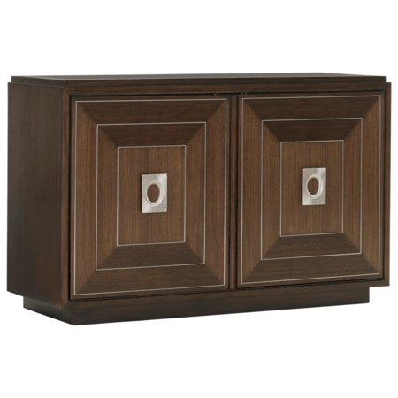 Carmen Hall Chest with Adjustable Shelving and Media Storage