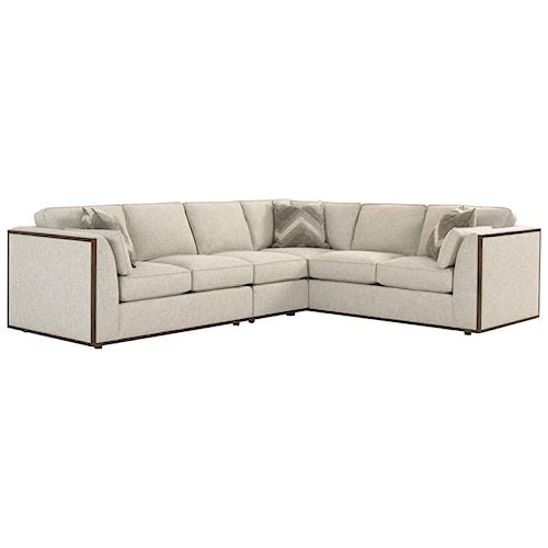 Lexington macarthur park westcliffe three piece corner for Furniture 500 companies