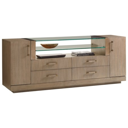 Turnberry Media Console with Adjustable Shelving and Wire Management Grommets