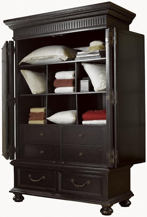 Tommy Bahama Home Kingstown Trafalgar Armoire With Shutter Doors Wayside Furniture Armoires