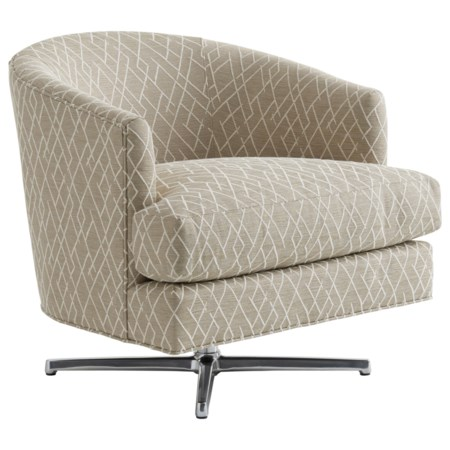 Graves Swivel Chair (Polished Chrome Finish)