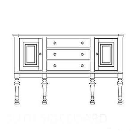 Yarmouth Sideboard with Two Doors and Three Drawers