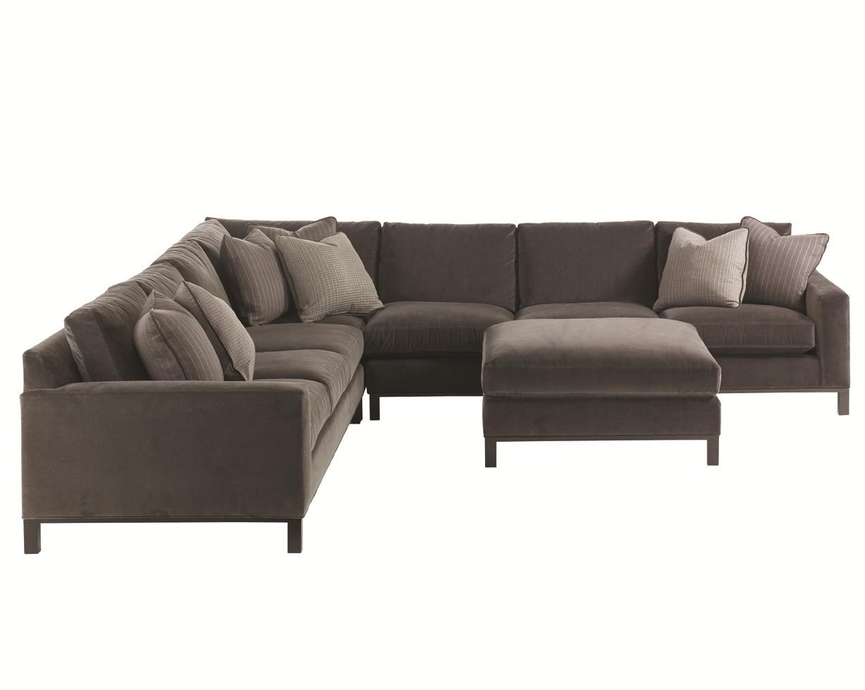 Lexington 11 South 4 Piece Upholstered Sectional & Ottoman