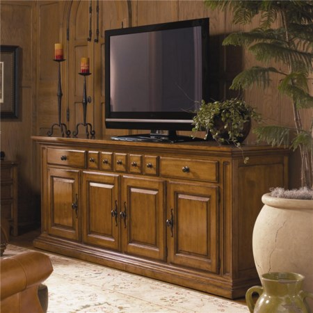 Sheridan Entertainment Console with Drawer and Door Storage