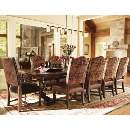 Eleven-Piece Silverton Dining Table with Somerset & Aspen Chairs Set