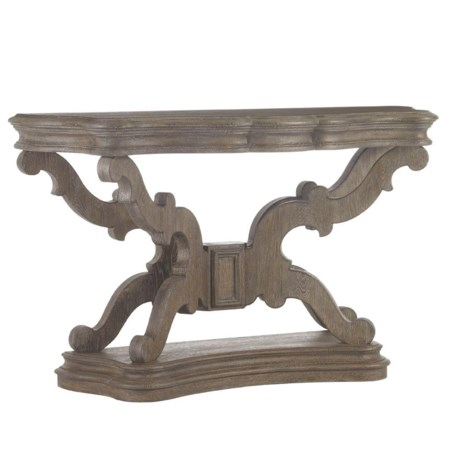 Bergerac Console with Scroll Pedestal Base