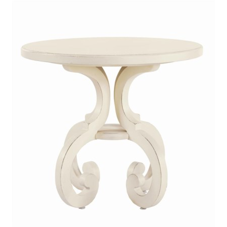 Fairfield End Table with One Support Shelf
