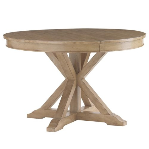 Lexington monterey sands san marcos round dining table for Dining table nashville tn