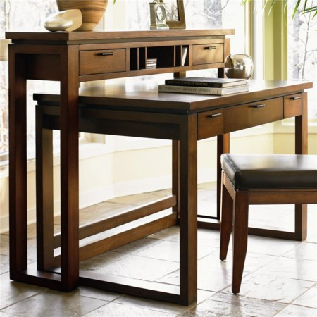 Bellaire Writing Desk and Hutch