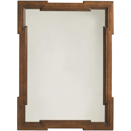 Rectangular Bellevue Mirror with Geometric Shaped Frame & Hanging Options