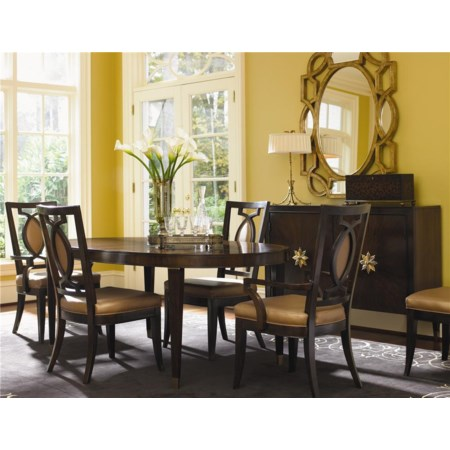 Five Piece Dining Set with Oval Table