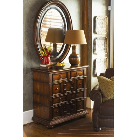 Single Dresser and Oval Mirror