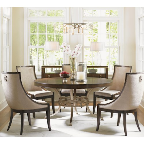 Lexington tower place 6 piece dining set with regis table for Dining sets nashville tn