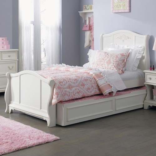 Liberty Furniture Arielle Youth Bedroom Traditional Twin Sleigh Bed Bullard Furniture Sleigh