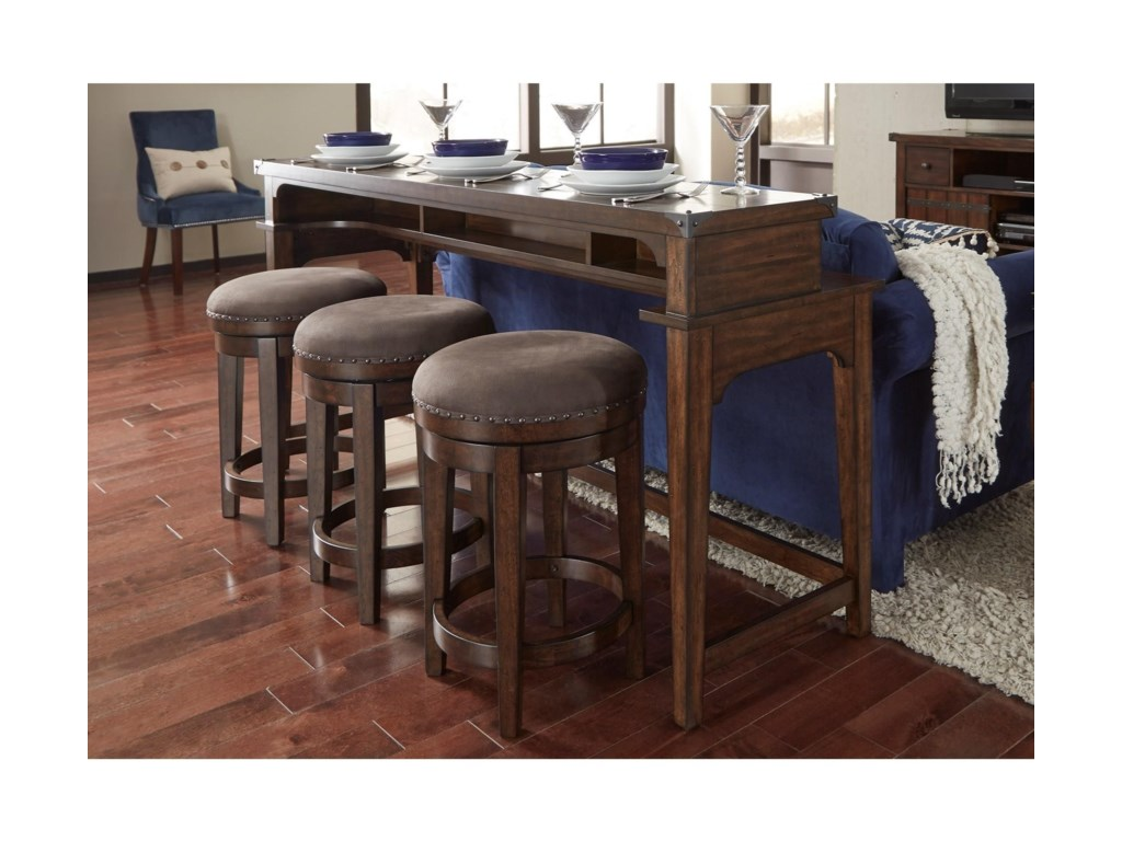Sofa table with bar stools for Table behind couch with stools