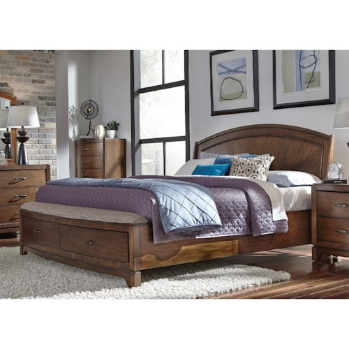 Liberty Furniture Avalon Iii Queen Panel Storage Bed Wayside Furniture Platform Beds Low