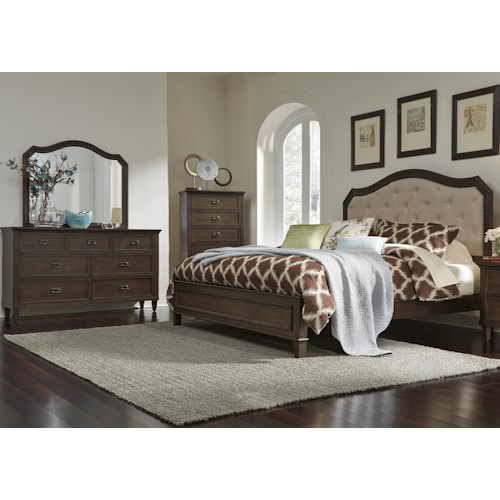 Liberty furniture berkley heights queen bedroom group for Bedroom furniture groups