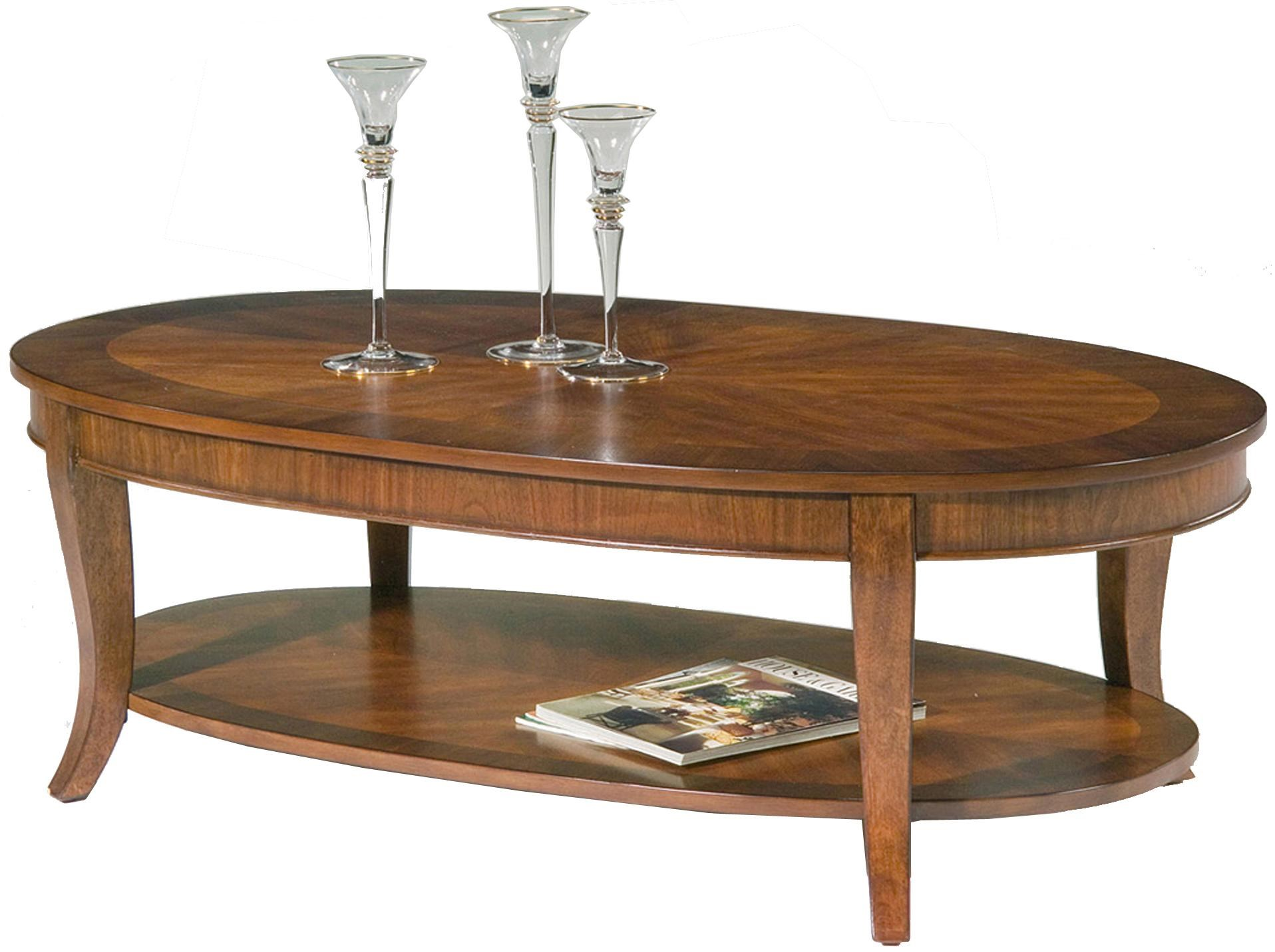 Liberty Furniture Bradshaw Oval Cocktail Table with Shelf