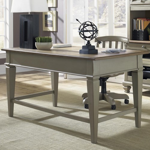 Liberty furniture bungalow 541 ho105 jr executive desk for Furniture 0 percent financing