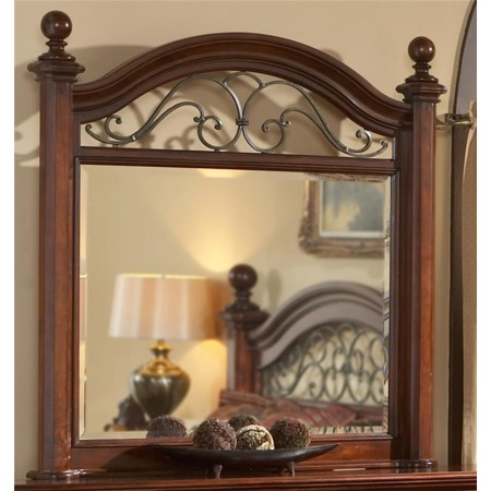 Landscape Mirror with Wrought Iron