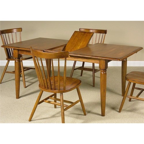 Liberty furniture creations ii dining table with one 12 for Dining room tables 38 inches wide