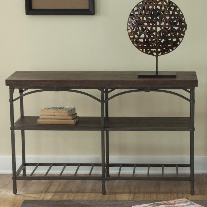 Liberty Furniture Franklin Sofa Table with Metal Base