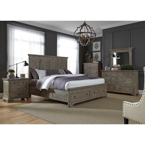 Liberty Furniture Highlands 727 Br K2sdmcn King Bedroom