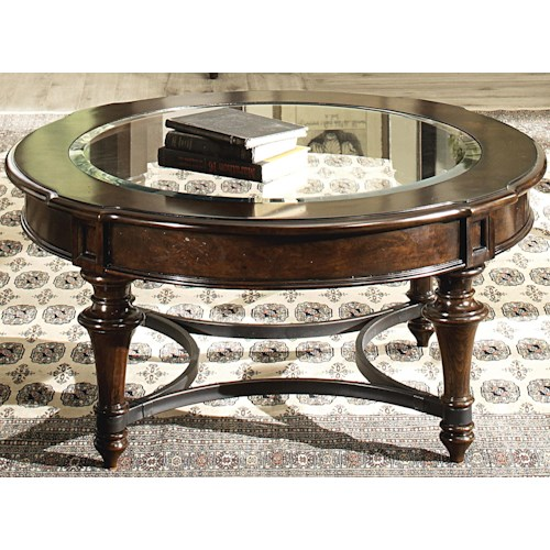 Liberty furniture kingston plantation round cocktail table for Plantation desk plans