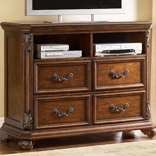 liberty furniture messina estates entertainment chest w 4 drawers wayside furniture media