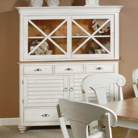 5 Drawer 4 Door Buffet and Hutch