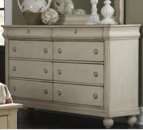 Liberty furniture rustic traditions 689 br31 dresser for Furniture 0 percent financing