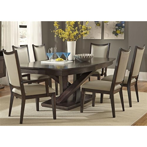 Liberty furniture southpark contemporary 7 piece dining for 7 piece dining set