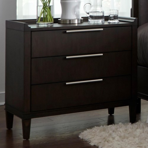 Liberty furniture tivoli 819 br61 3 drawer nightstand for Furniture 0 percent financing