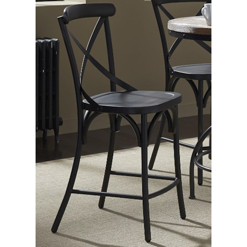 Liberty Furniture Vintage Dining Series X Back Counter Chair Dream Home Furniture Bar Stools