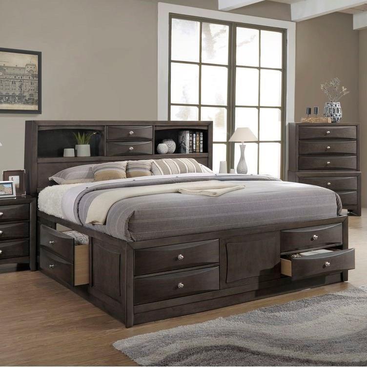 Todd Gray Queen Storage Bed