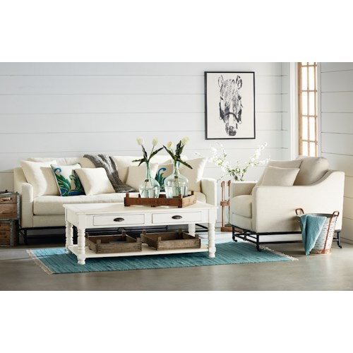 Magnolia home by joanna gaines ironworks living room group for Living room furniture groups