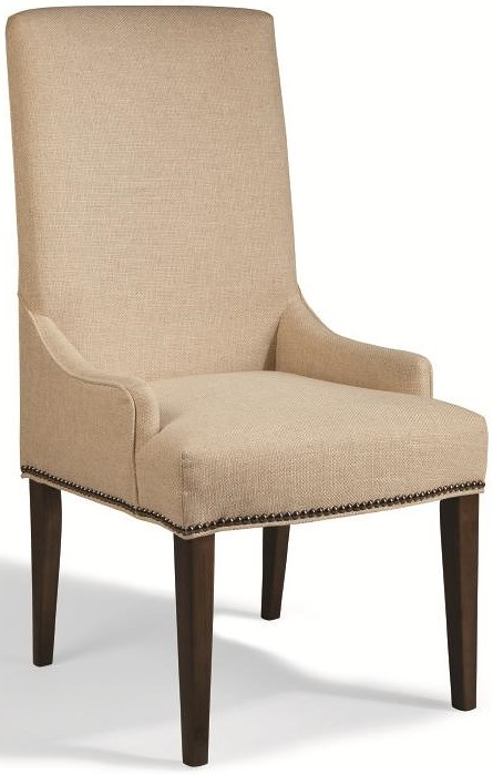 Magnussen home rothman tall upholstered chair with for Furniture 0 percent financing