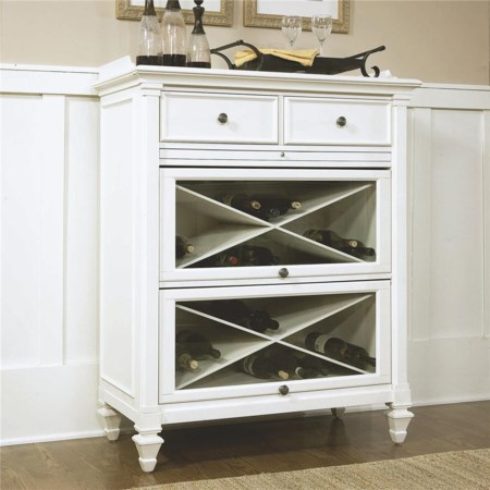 Wood Bar with Pull-out Shelf