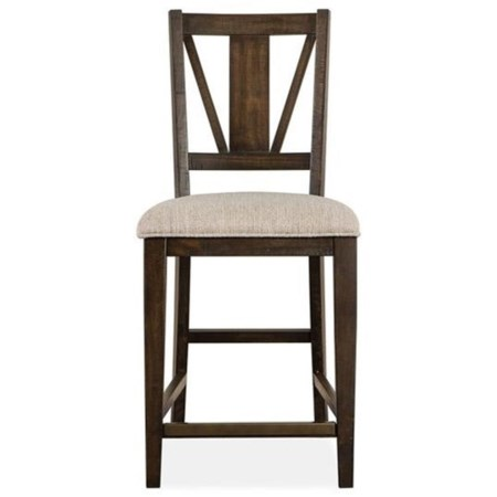 Counter Stool with Upholstered Seat