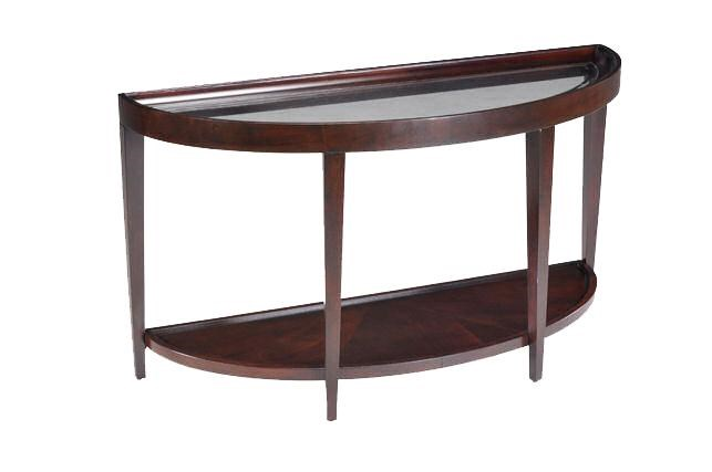 Belfort Select Carson Glass Top Demi Sofa Table Belfort