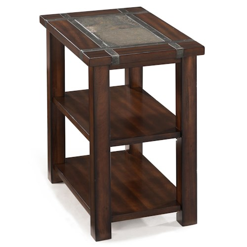 Magnussen home roanoke rectangular chairside end table for 10 wide end table