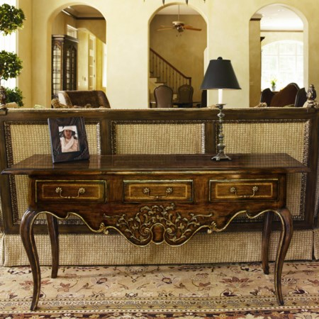 3 Drawer Console Table with Cabriole Legs