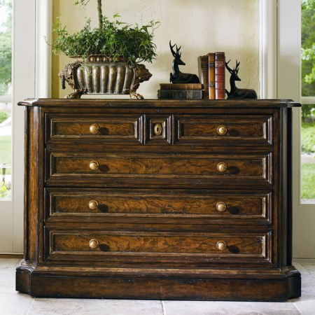 Executive File Cabinet with Brass Hardware